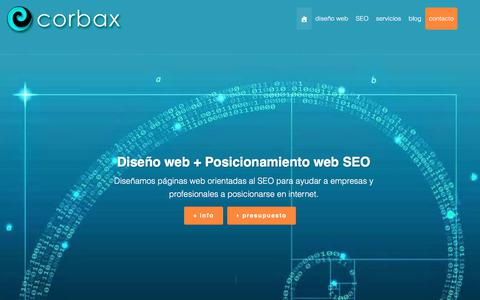Screenshot of Home Page corbax.com - Diseño web en Murcia | SEO Posicionamiento web | Corbax - captured July 9, 2017