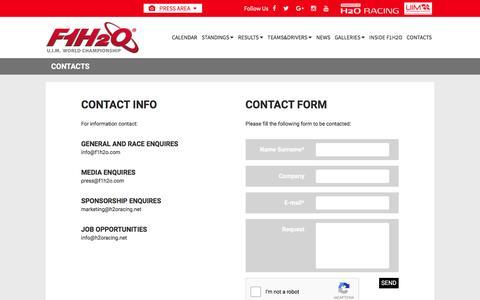 Screenshot of Signup Page f1h2o.com - F1H2O UIM World Championship - captured June 13, 2016