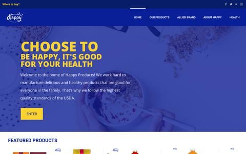 Screenshot of Home Page happyproductspr.com - Happy Products - captured Sept. 27, 2018