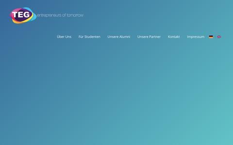 Screenshot of Home Page teg-ev.de - TEG   the entrepreneurial group e.V. - TEG e.V. - captured Nov. 29, 2016