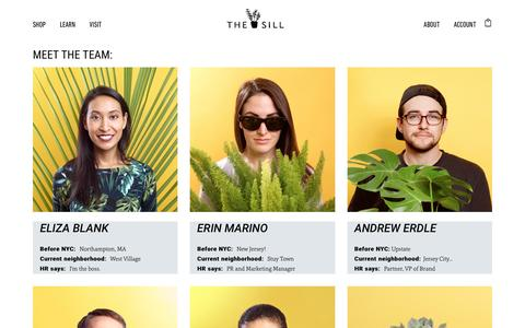 Screenshot of Team Page thesill.com - Team – The Sill - captured Nov. 20, 2016