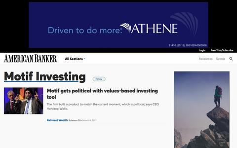 Motif Investing  | American Banker