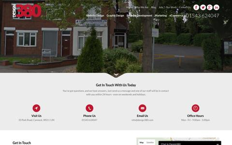 Screenshot of Contact Page design380.com - Design 380 Free Website Design Quote - captured Aug. 1, 2016