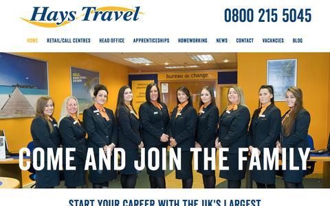 Screenshot of Jobs Page haystravel.co.uk - Hays Travel Careers - captured July 17, 2018