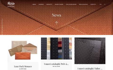 Screenshot of Press Page icma.it captured Nov. 17, 2016