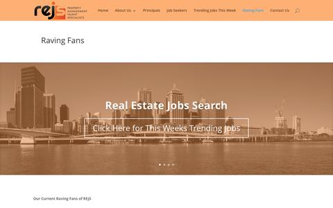 Screenshot of Testimonials Page realestatejobssearch.com - Client Testimonials - Satisfied Clients and Candidates | - captured Jan. 24, 2016