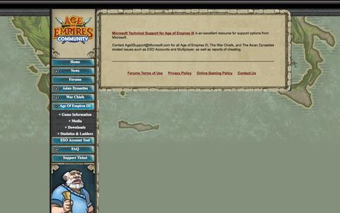 Screenshot of Contact Page ensemblestudios.com - Ensemble Studios: Age of Empires III: Contact Us - captured Sept. 30, 2014