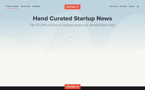 Startup News | Startups.co