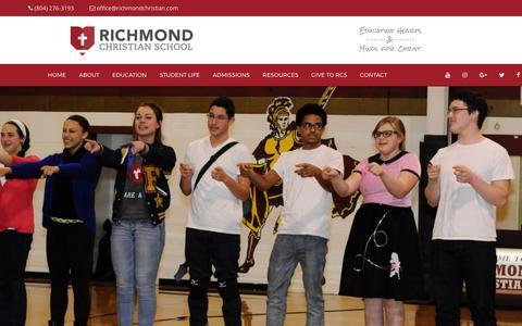 Screenshot of Team Page richmondchristian.com - Leadership | Richmond Christian School - captured Oct. 26, 2017