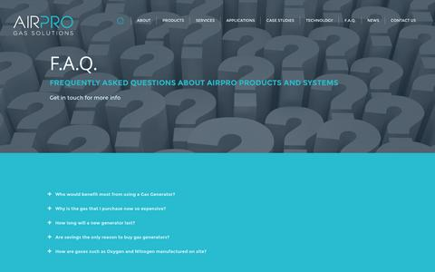 Screenshot of FAQ Page airpro.ie - Air Pro - captured Oct. 29, 2014