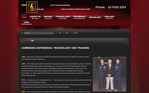 Screenshot of About Page alphadetroit.com.au - About Us - captured Oct. 4, 2014