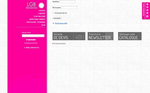 Screenshot of Login Page lgb-organisations.fr - Login » LGB Organisations - captured Oct. 28, 2014