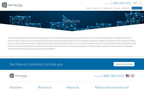 Screenshot of Services Page g2webservices.com - Services - Verisk Financial | G2 - captured Feb. 22, 2019