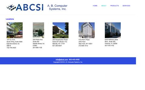 Screenshot of Locations Page abcsi.com - Locations – A. B. Computer Systems, Inc. - captured Nov. 16, 2016