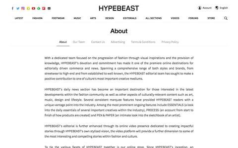 About | Hypebeast