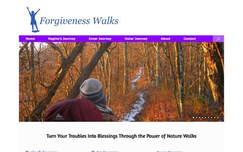 Screenshot of Home Page forgivenesswalks.com - How to Forgive: Appalachian Trail Pilgrimage Walk    Forgivenesswalks.com - captured Feb. 10, 2016