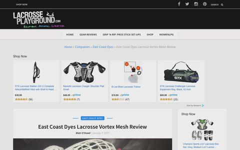 East Coast Dyes Lacrosse Vortex Mesh Review – Lacrosse Playground