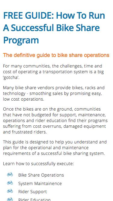 How to Run a Successful Bike Share Program - Download