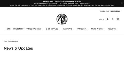 Screenshot of Press Page workhorseirons.com - News & Updates – Workhorse Irons - captured Sept. 20, 2018