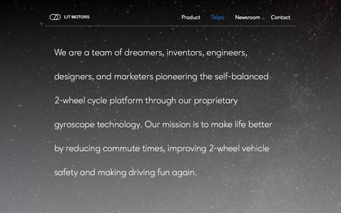 Screenshot of Team Page litmotors.com - Team - captured March 21, 2019