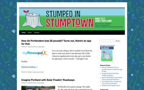 Screenshot of Home Page stumpedinstumptown.com - Stumped in Stumptown - Portland, Oregon - captured March 2, 2017