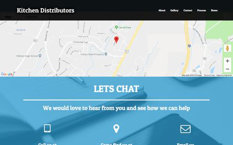 Screenshot of Contact Page kitchen-distributors.com - Contact – Kitchen Distributors - captured Sept. 20, 2018