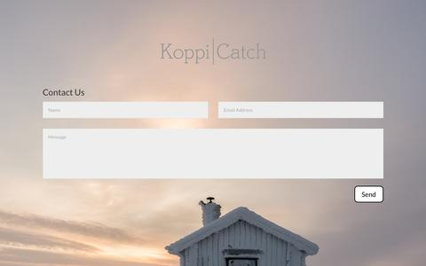 Screenshot of Contact Page koppicatch.com - Contact Us | Koppicatch - captured Oct. 16, 2018