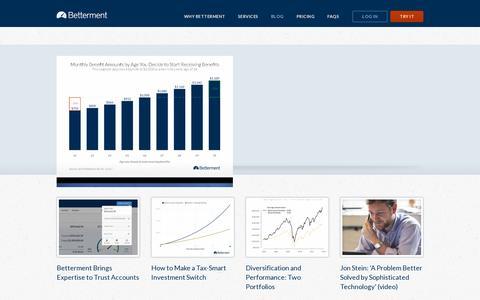 Screenshot of Blog betterment.com - Blog | Betterment - captured July 19, 2014