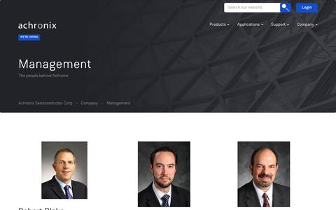 Screenshot of Team Page achronix.com - Management – Achronix Semiconductor Corp - captured Oct. 7, 2017
