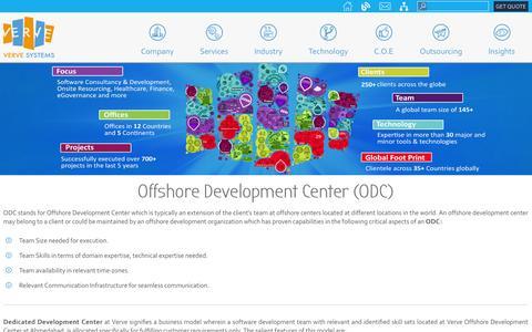 Screenshot of Services Page vervesys.com - Offshore Software Development Center India | ODC – Verve Systems - captured Nov. 6, 2014