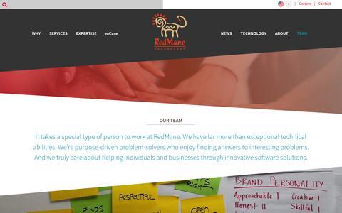 Screenshot of Team Page redmane.com - RedMane Team | RedMane Technology - captured Nov. 18, 2018