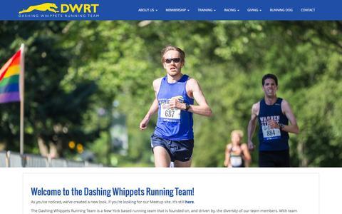 Screenshot of Home Page dashingwhippets.org - Dashing Whippets Running Team | Est. 2009 - captured Jan. 26, 2015
