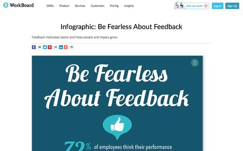 Screenshot of Testimonials Page workboard.com - Infographic: Be Fearless About Feedback - captured Jan. 15, 2020