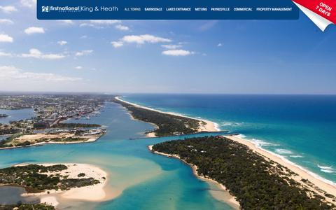 Screenshot of Home Page kingheath.com.au - Real Estate Agents Bairnsdale Metung Lakes Entrance Paynesville - captured Feb. 12, 2016
