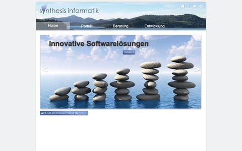 Screenshot of Home Page syn.ch - Synthesis Informatik - captured Aug. 12, 2015