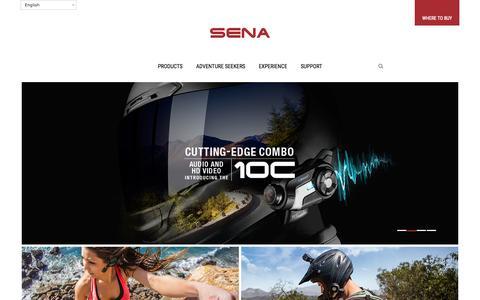 Screenshot of Home Page sena.com - Sena Official Website: Global Leader in Bluetooth Innovation - captured Oct. 1, 2015