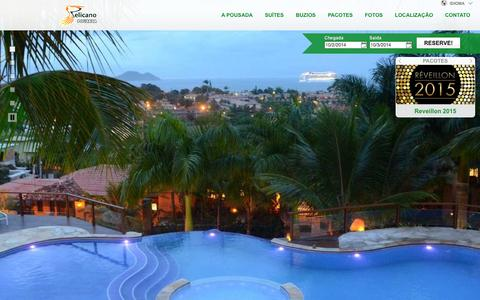 Screenshot of Blog buziospelicano.com.br - Pousada Pelicano - Buzios - Brasil - captured Oct. 2, 2014