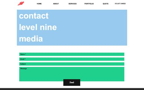 Screenshot of Contact Page levelninemedia.com - Contact Us - captured June 29, 2019