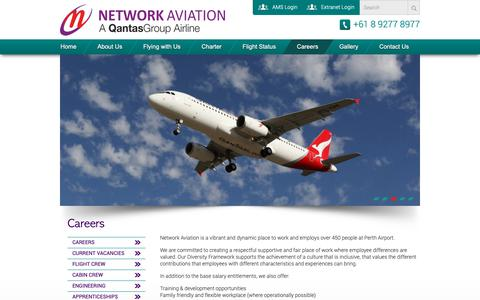 Screenshot of Jobs Page networkaviation.com.au - Careers | Network AviationNetwork Aviation - captured Oct. 20, 2018