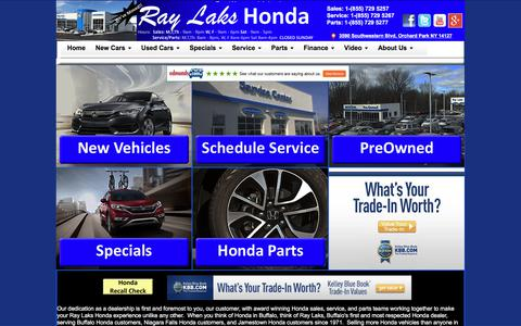 Screenshot of Home Page raylakshonda.com - Ray Laks Honda - Buffalo, NY Honda Dealer - Civic, CRV, Accords - captured June 11, 2017