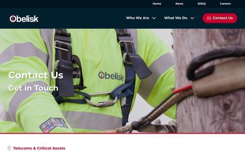 Screenshot of Contact Page obelisk.com - Get in Touch | Obelisk - captured Oct. 19, 2018
