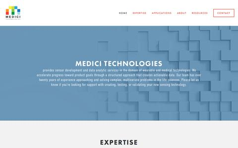 Screenshot of About Page Contact Page medicitechnologies.com - Medici Technologies - captured Sept. 20, 2018