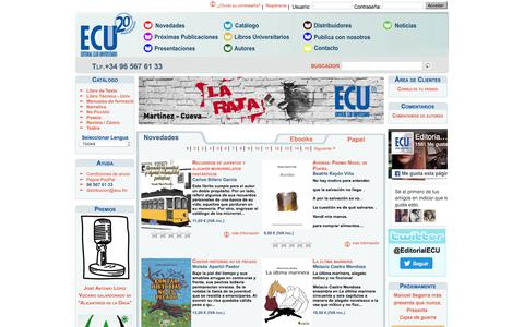 Screenshot of Home Page editorial-club-universitario.es - Novedades - Editorial Club Universitario - captured Oct. 30, 2017
