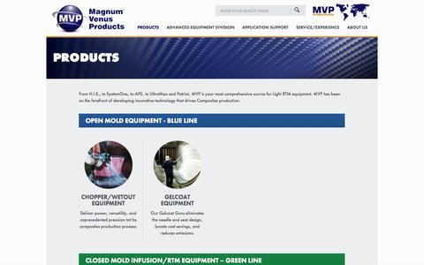 Screenshot of Products Page mvpind.com - Products - Magnum Venus Products - captured Oct. 4, 2014