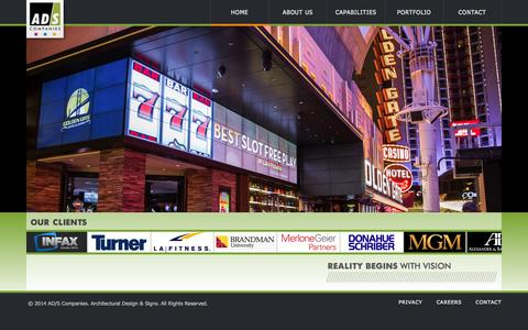 Screenshot of Home Page ad-s.com - AD/S Companies - captured Oct. 4, 2014
