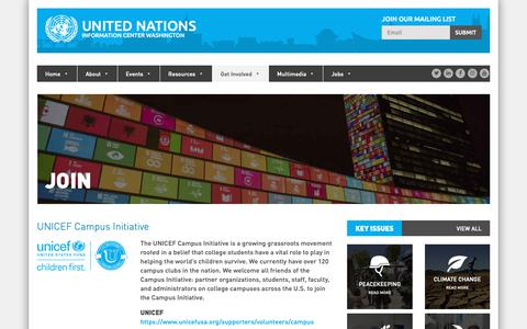 Screenshot of Signup Page unicwash.org - Join - United NationsUnited Nations - captured Oct. 18, 2018