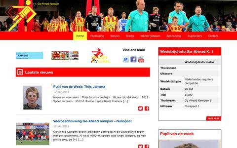 Screenshot of Home Page goaheadkampen.nl - Home   v.v. Go-Ahead Kampen - captured Oct. 18, 2018