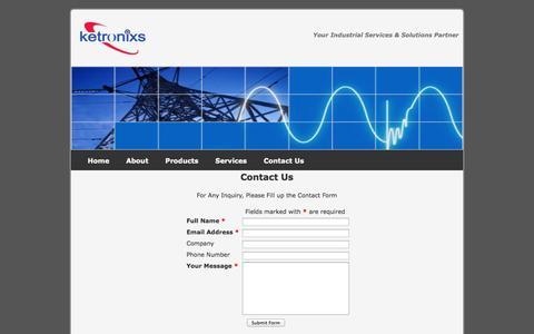 Screenshot of Contact Page ketronixs.com - Ketronixs Sdn Bhd - Contact Us - captured Oct. 6, 2014