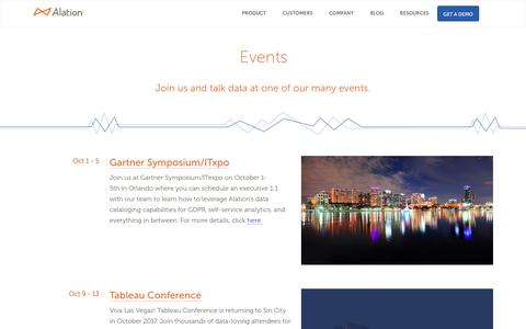 Events Archive - Alation