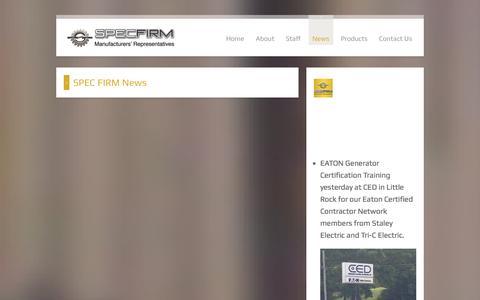 Screenshot of Press Page specfirm.com - SPEC FIRM News - captured Oct. 1, 2014
